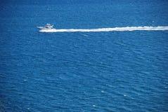 Yacht sur la mer Photos libres de droits