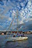 Yacht sur le Neva Photo libre de droits