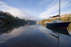 Yacht sur les jambons du sud Devon de Voss Photographie stock