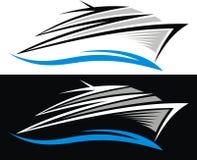 Yacht symbol isolated Royalty Free Stock Image