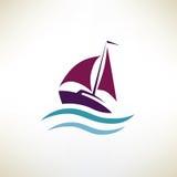 Yacht symbol, regatta concept Stock Photo