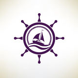 Yacht symbol Royalty Free Stock Photos