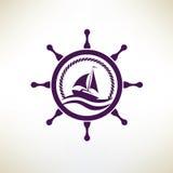 Yacht symbol Royalty Free Stock Photos