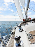 Yacht is tacking in Adriatic sea, Stock Image