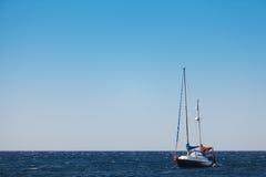 Yacht in th sea. Yacht in the sea, Miditerranian sea, Greece Royalty Free Stock Photos