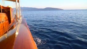 Yacht tour in Aegean Sea - Bodrum, Turkey. stock video