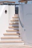 Yacht-Treppen Stockfotos