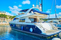 Yacht trips from Valletta, Malta. The luxury yachts are perfect vessels to make a trip around Grand Harbour of Valletta and enjoy the sites, Malta Royalty Free Stock Images