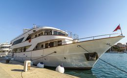 Yacht in Trogir royalty free stock photography