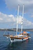 Yacht turco di Gulet, Malta. Immagine Stock