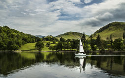 Yacht on Ullswater stock photo