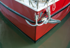 Yacht und Anker stockbild
