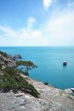 Yacht und Meer Lizenzfreies Stockfoto