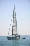 Yacht under sail Royalty Free Stock Photography