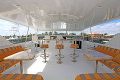 Yacht Upper Deck stock images
