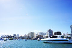 Yacht in Uruguay. Yacht moored in Punta Del Este, Uruguay Royalty Free Stock Photo