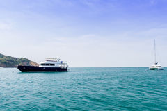 Yacht and vacations Park in the Andaman Sea Royalty Free Stock Photography