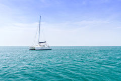 Yacht and vacations Park in the Andaman Sea Royalty Free Stock Image