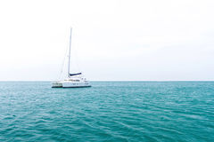Yacht and vacations Park in the Andaman Sea Stock Images