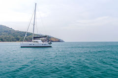 Yacht and vacations Park in the Andaman Sea Royalty Free Stock Photos