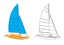 Yacht - vecteur Images libres de droits