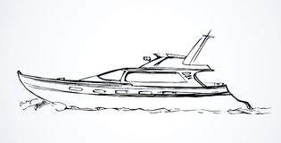 Yacht. Vector drawing Stock Photography