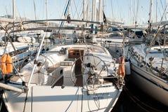 Yacht, vela, mare ed oceano fotografia stock