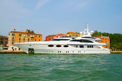 Yacht in Venice , Italy . Royalty Free Stock Photography