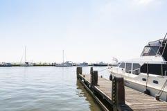 Yacht in Volendam Stock Images