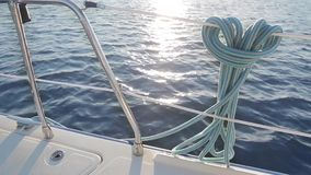 Yacht voyage. Cruise on a yacht. stock video footage