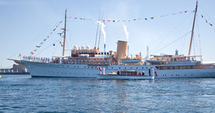 Yacht is waiting for the Queen of Denmark Royalty Free Stock Images