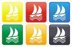 Yacht web button Royalty Free Stock Photo