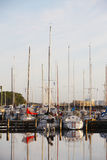 Yacht wharf Stock Images