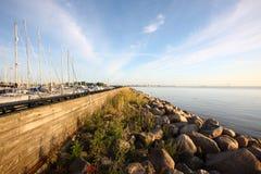 Yacht wharf Stock Photography