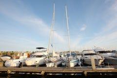 Yacht wharf Stock Photo