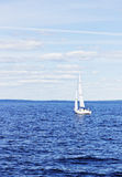 Yacht with white sail Royalty Free Stock Images
