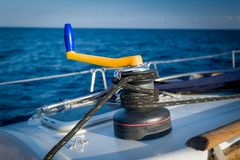 Yacht winch Royalty Free Stock Photography