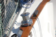 Yacht winch stock photography