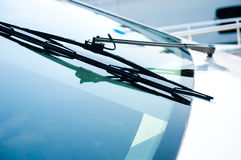 Yacht windshield wiper. The close up of yacht windshield wiper Stock Photos