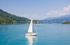 Yacht .Worthersee. Austria Stock Photos
