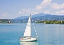 Yacht .Worthersee. Austria Stock Image