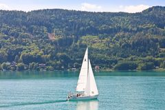 Yacht .Worthersee. Austria Royalty Free Stock Photography