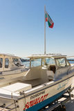 Yacht for rent in Pomorie, Bulgaria Royalty Free Stock Image