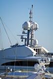 Yachtbrücke Stockfoto