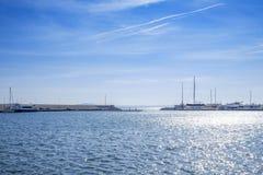 Yachtclubmeerblick 1 stockfotografie