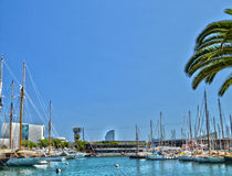 Yachten in Barcelona Lizenzfreie Stockfotos