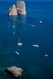 Yachten bei Capri Stockfotografie