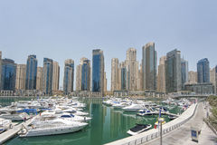 Yachten in Dubai-Hafen, vereinigte arabische Emirate Stockbilder