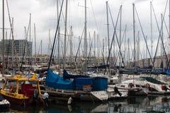 Yachten im Hafen Lizenzfreies Stockfoto