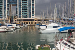 Yachten im Hafen Lizenzfreies Stockbild
